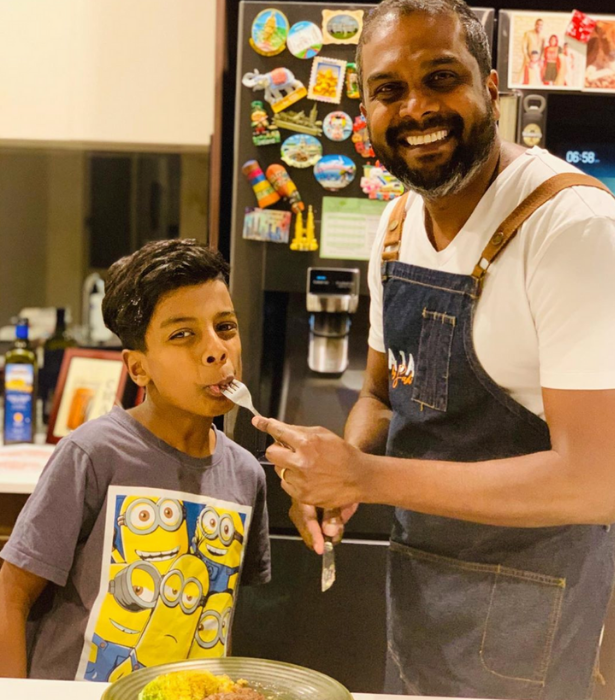 Ryan's learnt from his dad in the kitchen.
