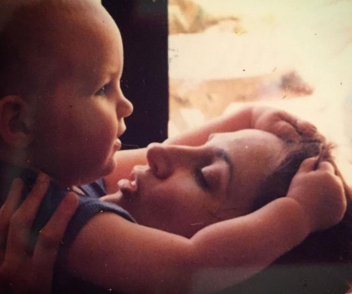 Georgie shared this flashback photo with her daughter Holly, who is now 19 years old.