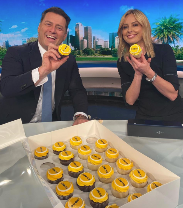 **The Today Show**<br><br> Karl Stefanovic and Alison Langdon were supporting the cause on this morning's show, with a little help from matching sweet treats.
