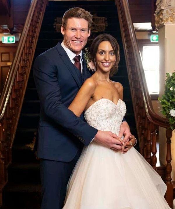 Lizzie and Seb got 'married' in the 2020 season of *MAFS*.