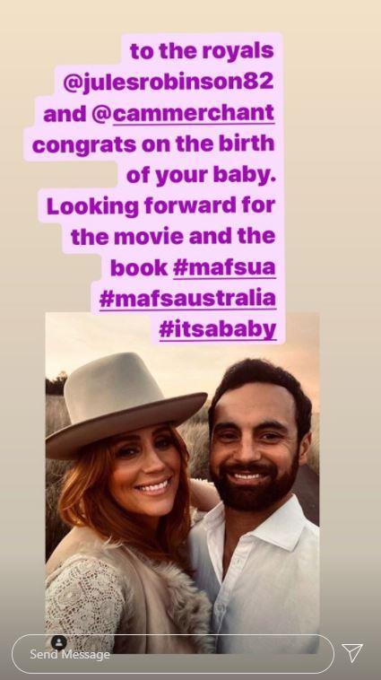 Nasser shared this Instagram story on Sunday evening, sending fans into overdrive.
