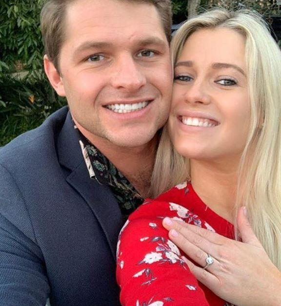 Amelia and her fiance Greg announced their engagement in July.