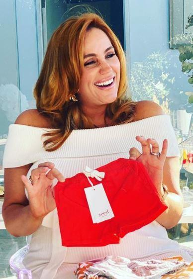 Jules was glowing at her baby shower in August, with the mum-to-be sharing a series of candid snaps from the special event.