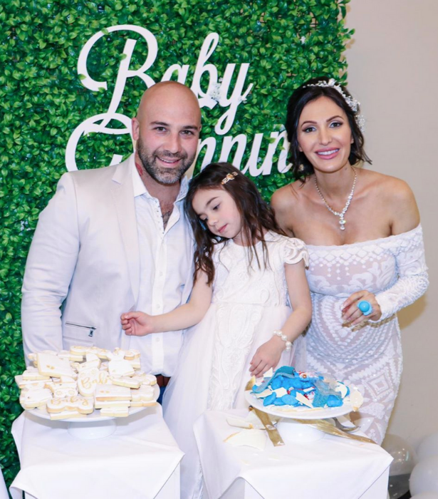 The couple celebrated the exciting news with a glamorous gender reveal party.