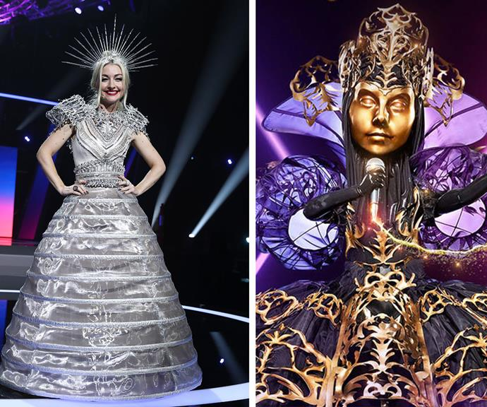 **The Queen:** With her ethereal and haunting voice on full display, it's long been suspected The Queen was Kate Miller-Heidke. And on Monday night's finale, the show's worst kept secret was finally let out of the bag!