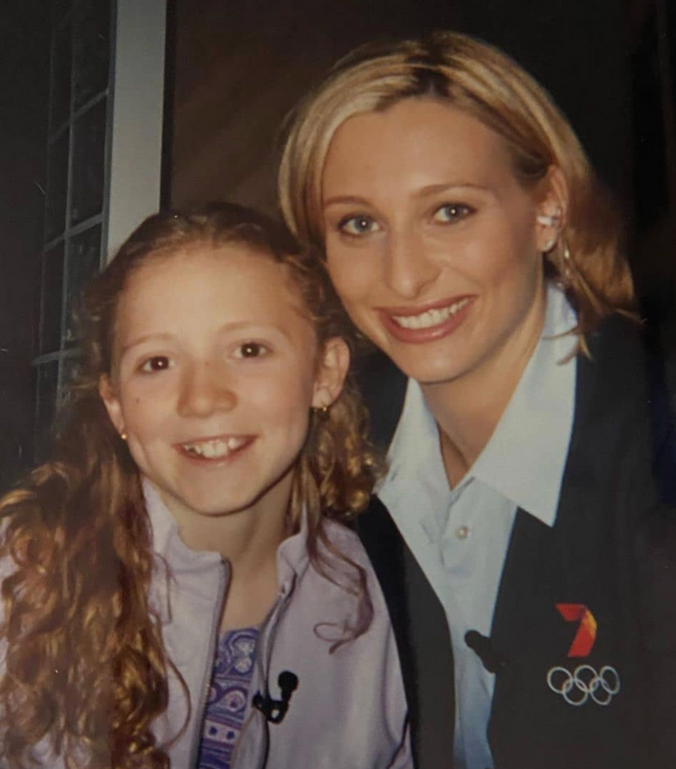Johanna Griggs, who was working as a commentator at the Games, shared this throwback snap with Nikki at the Olympics.