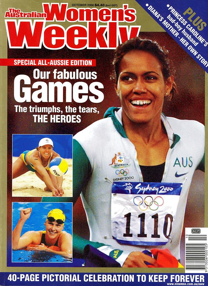 Cathy appeared on the cover of the October 2000 *Australian Women's Weekly*.