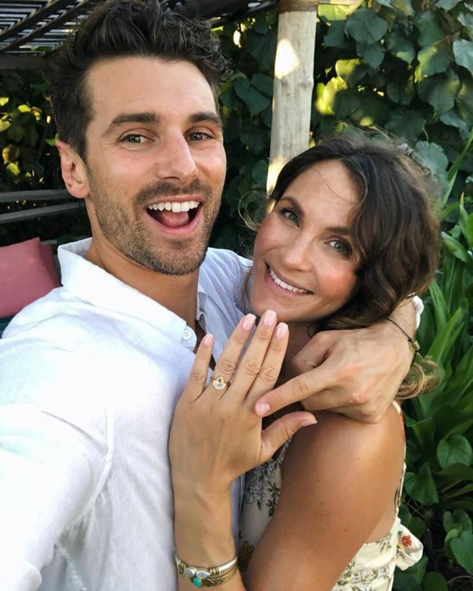 Matty J popped the question while on holiday with Laura.