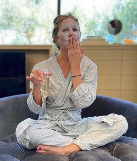 Jennifer Aniston meanwhile was a full-blown 2020 #mood sharing this pj-clad pic to her Insta.