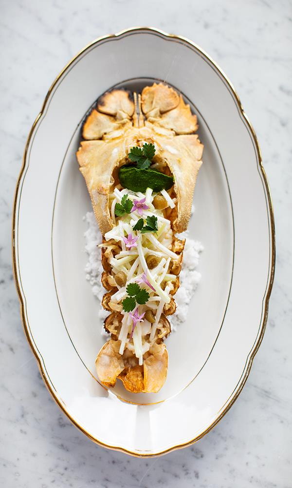 The Bay lobster, just one of the many amazing dishes at Paper Daisy, Halcyon House.