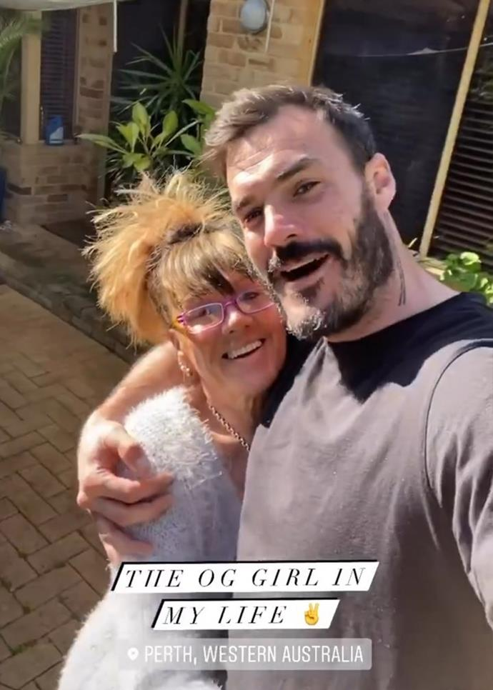 """Locky (right) says his mum is """"the OG girl in his life."""""""