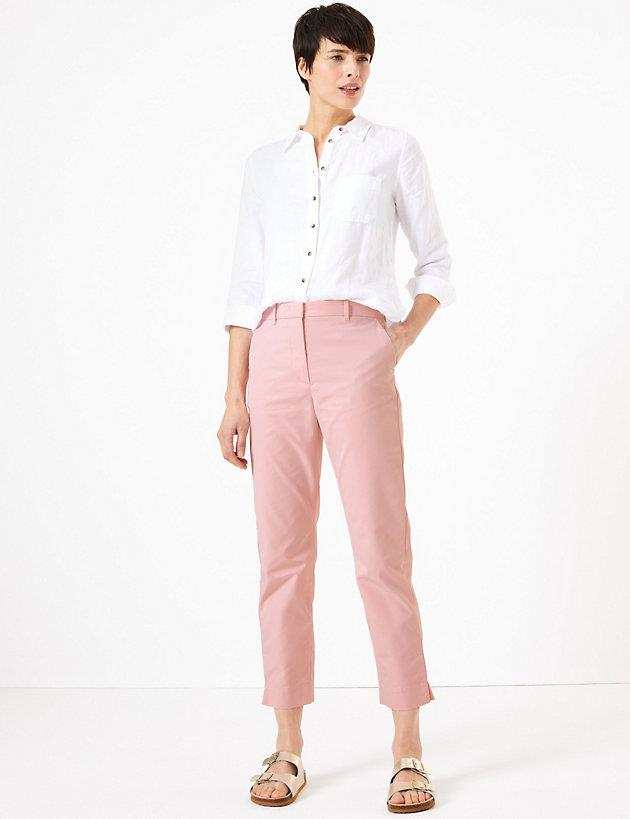 "M&S cotton straight leg chinos, $55. [Buy them online here](https://www.marksandspencer.com/au/cotton-straight-leg-chinos/p/P60374314.html|target=""_blank""|rel=""nofollow"")."