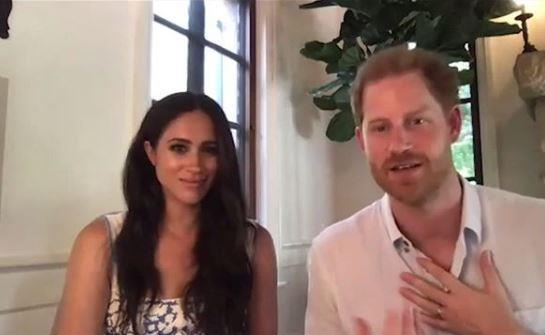 Harry and Meghan have given fans fleeting glimpses into their new Santa Barbara mansion.