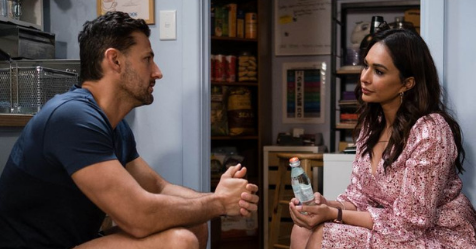 Sharon Johal reveals the sneaky way Neighbours filmed their intimate scenes amid COVID restrictions, and it involves a lot of kissing practice