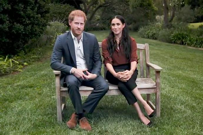 Harry and Meghan joined ranks with some of the US's most influential names for the broadcast.