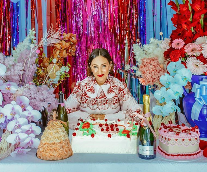 We spy the beloved Dolly Varden cake at Zoe's recent birthday.