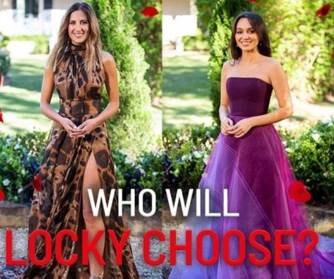 Irena (left) and Bella (right) in the dresses they will wear on tonight's finale episode.