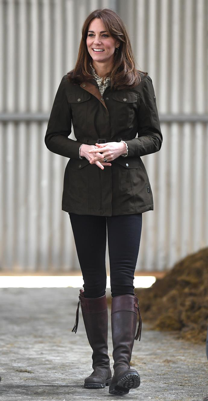 Kate's Penelope Chilvers boots are reminiscent of Sophie Wessex's.