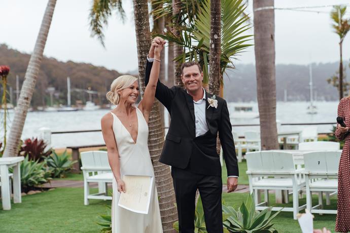 Karen and Hoppo wrote their own romantic wedding vows.