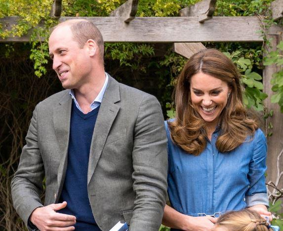 William and Kate were just as excited to meet Sir David.