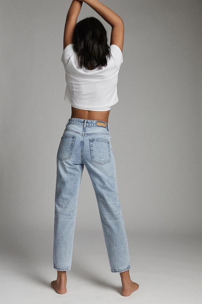 """Chic, simple, cheap. What more could you want in a pair of jeans? These Cotton On mom jeans are case in point. $49.99, **[buy them online here](https://cottonon.com/AU/mom-jean/9356362048510