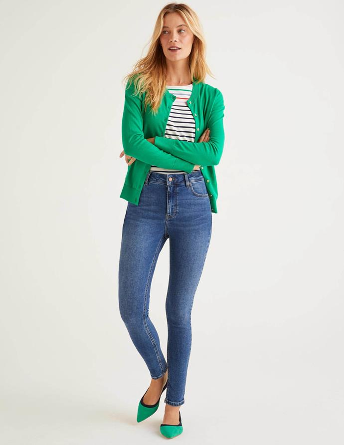 """A classic skinny never goes amiss, and Boden's all over the stretch to fit ratio. $98, **[buy them online here](https://www.bodenclothing.com.au/en-au/super-skinny-jeans-mid-vintage/sty-t0364-mdn?cat=C1_S2_G964
