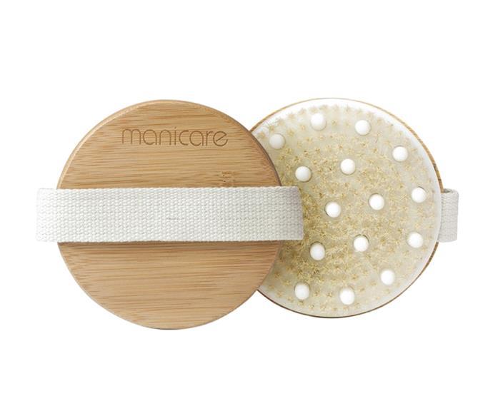 "Manicare Dry Body Brush, $16.99 at [Priceline](https://www.priceline.com.au/manicare-dry-body-brush-1-ea?gclid=Cj0KCQjwtsv7BRCmARIsANu-CQdLjUJAyoa16qoYn-ZAljuUzsWkLcrNiB2--NRrZzBXyLN6t-t1FoEaAl4sEALw_wcB&gclsrc=aw.ds|target=""_blank""|rel=""nofollow"")"