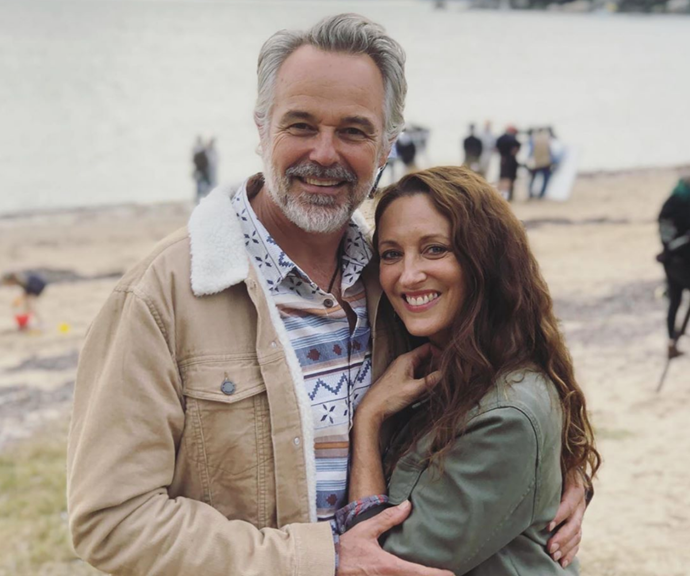 It's all smiles behind-the-scenes when it comes to Georgie and Cam.