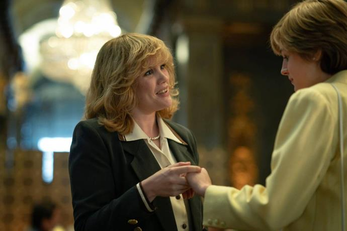 And let's just take a moment to prepare for *this* scene - Camilla Shand (who later marries Prince Charles to become the Duchess of Cornwall) meets a young Diana.