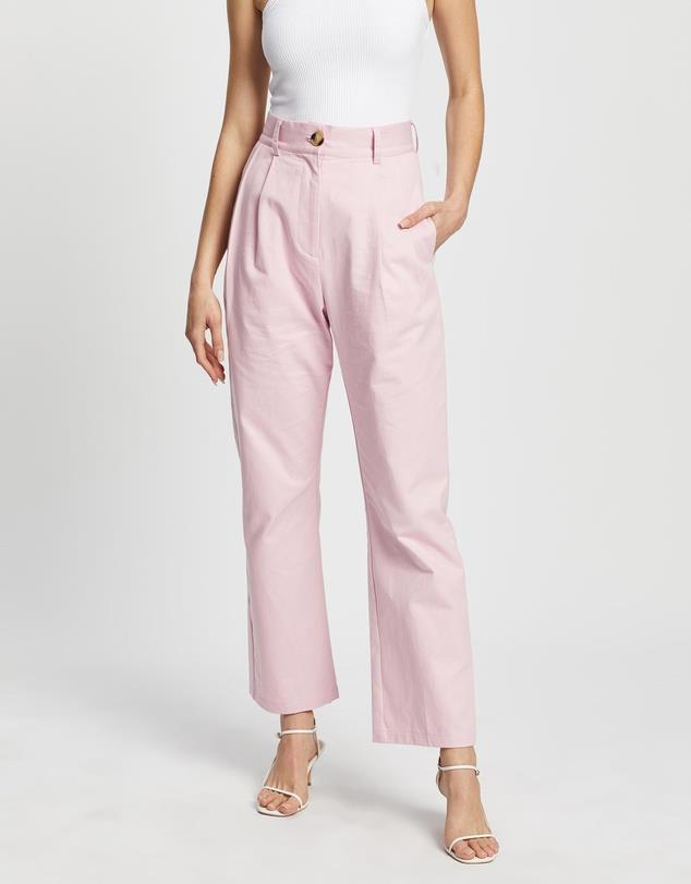 "Dazie tommy straight leg pants, $79.99, [buy them online via The Iconic here](https://www.theiconic.com.au/tommy-straight-leg-pants-1117580.html|target=""_blank""