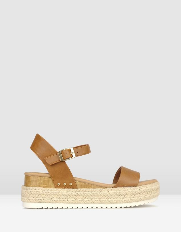 """Summer 2020 is also all about the humble espadrille. BETTS' simple flatform is a guaranteed winner. $89.99, **[buy them online via The Iconic here.](https://www.theiconic.com.au/tahlia-rope-flatform-sandals-947397.html