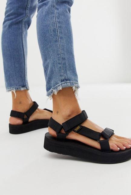 "Teva's version of the chunky flatform is our kinda vibe. $100, **[buy them online via ASOS here.](https://www.asos.com/au/teva/teva-midform-universal-chunky-sandals-in-black/prd/11270755|target=""_blank""|rel=""nofollow"")**"