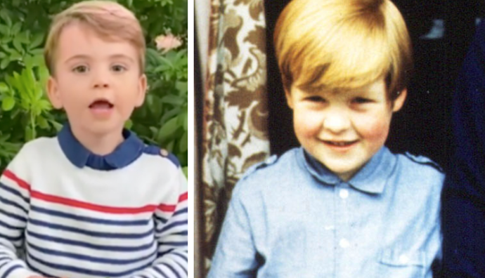 Prince Louis and his great uncle Earl Spencer are certainly not un-alike...