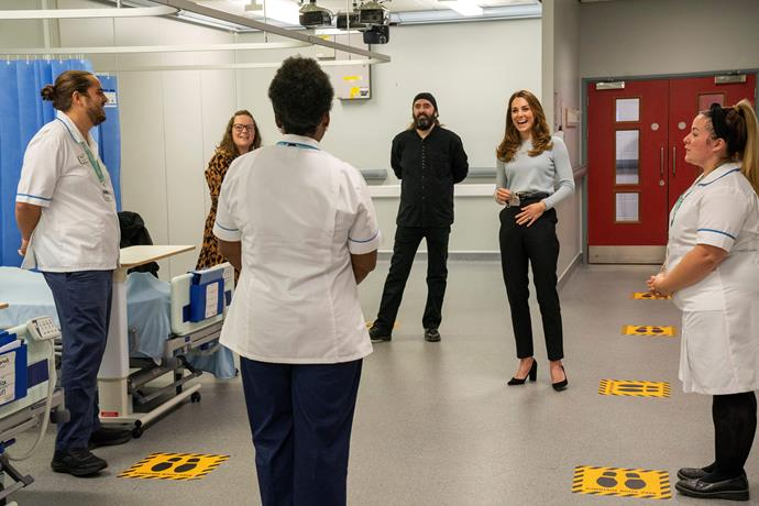 Kate spoke with nursing students about their mental health during her visit.