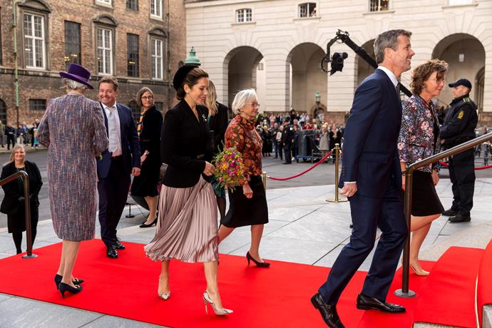 The Crown Princess was joined by her husband Crown Prince Frederik for the occasion.
