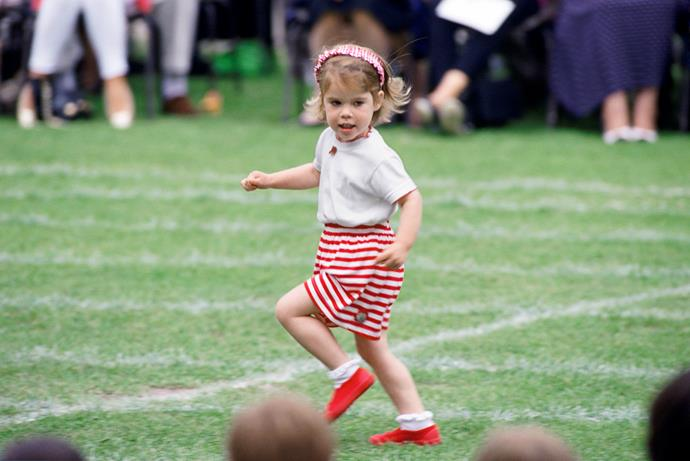 And she was a dab hand on the track when she was a wee one.