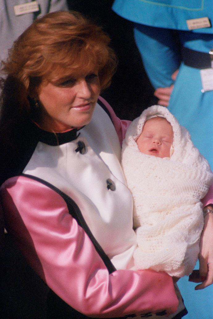 """On March 23, 1990, Sarah """"Fergie"""" Ferguson and Prince Andrew welcomed their second child, Eugenie - and the world was henceforth smitten with the littlest new royal."""