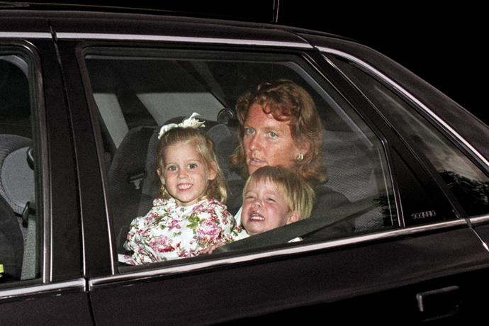 Of course, all parents can tire at times - Eugenie certainly looked to be testing Sarah's final nerve in this car snap.