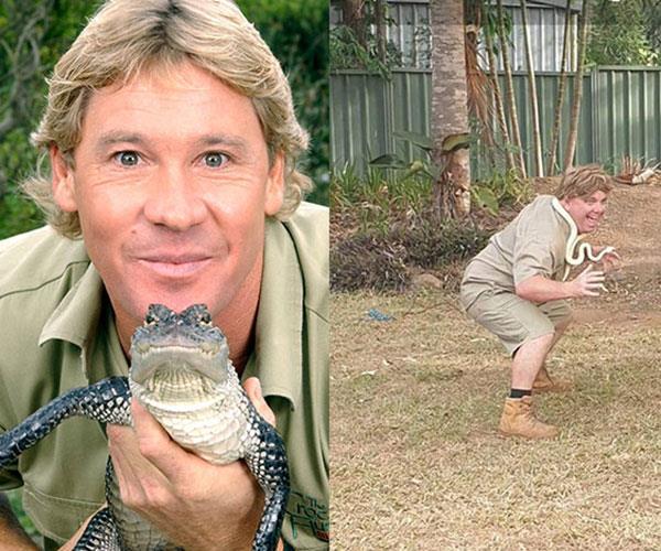 He is inspired by his hero Steve Irwin.