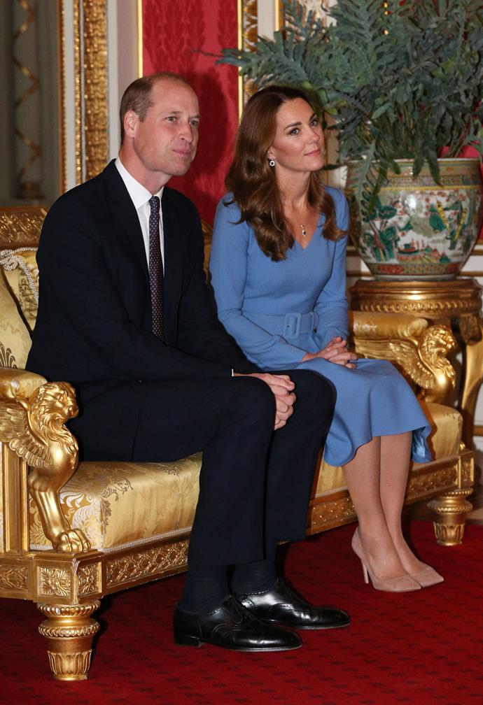 The Duke and Duchess of Cambridge hosted the Ukranian President Volodymyr Zelenskyy and his wife Оlena at Buckingham Palace on Wednesday.