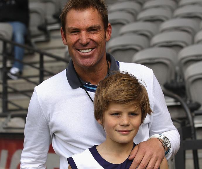 The sports-loving duo head to an AFL match in 2011.