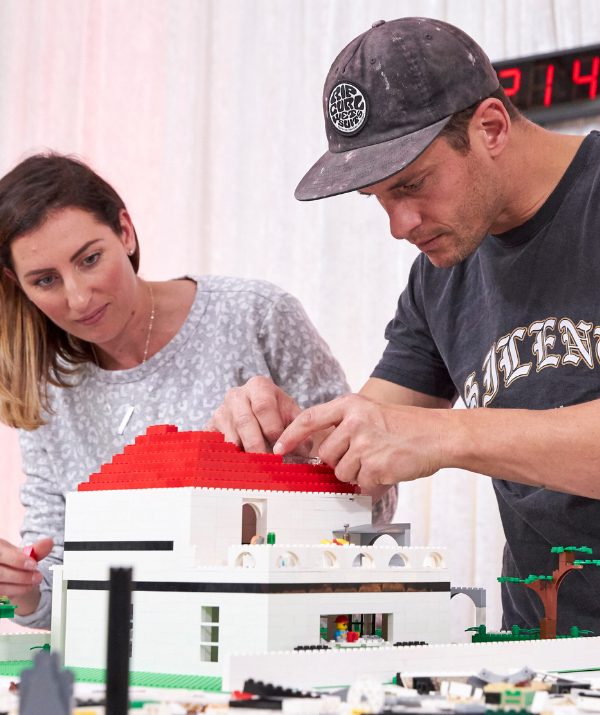 Perth couple Luke and Jasmin admit they went into this challenge completely blind after never watching an episode of *Lego Masters*.