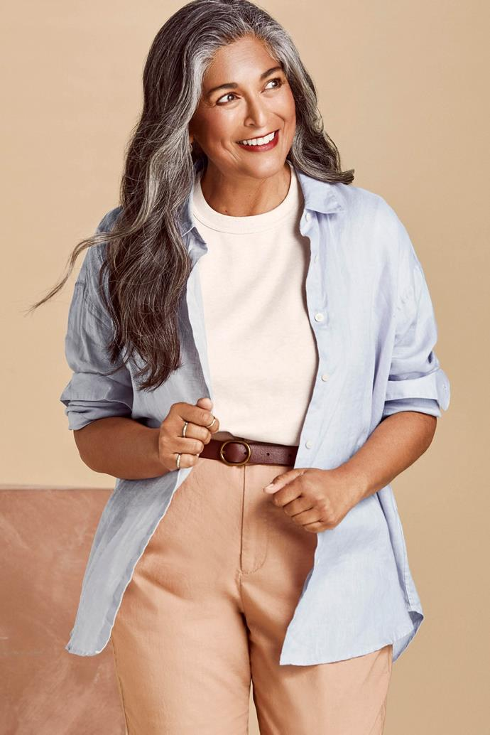 "[WOMEN Uniqlo U Crew Neck Short Sleeve T-Shirt, $14.90](https://www.uniqlo.com/au/store/women-premium-linen-long-sleeve-shirt-4246580001.html?utm_medium=prospecting&utm_source=native&utm_campaign=20SS_Linen&utm_content=AWW|target=""_blank""