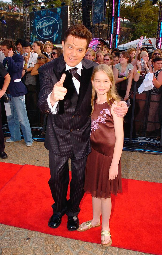 Mark and Katie at the Australian Idol finale in 2005.