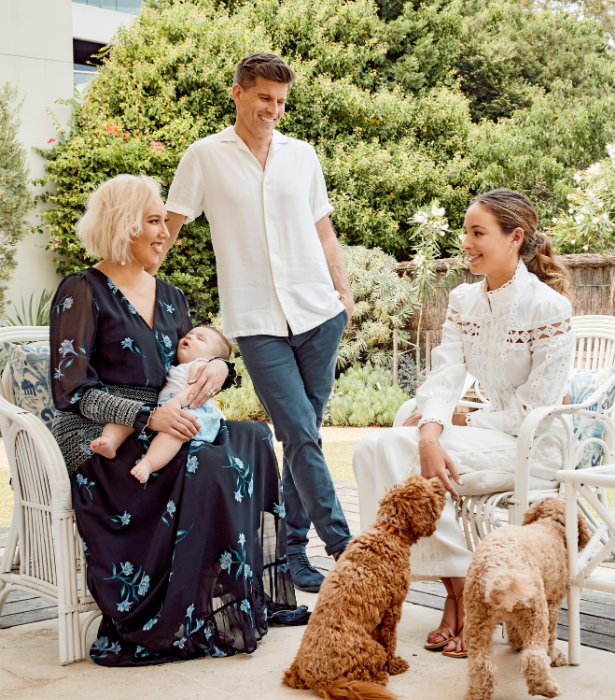 Osher is in awe of Audrey after she raised Georgia as a single mum.