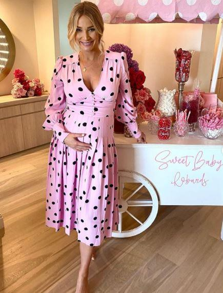 Anna Heinrich celebrated her incoming baby girl in style over the weekend.