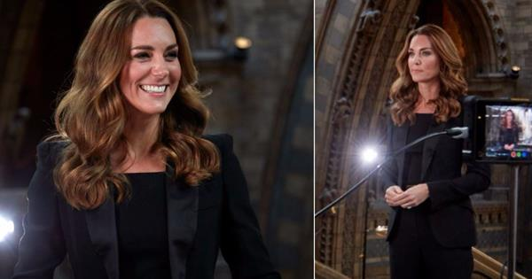 Duchess Catherine channels one of Meghan Markle's most iconic looks as she makes an historic announcement at the Natural History Museum