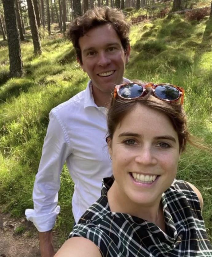 Princess Eugenie shared a series of rare, unseen snaps for her second wedding anniversary to Jack Brooksbank.