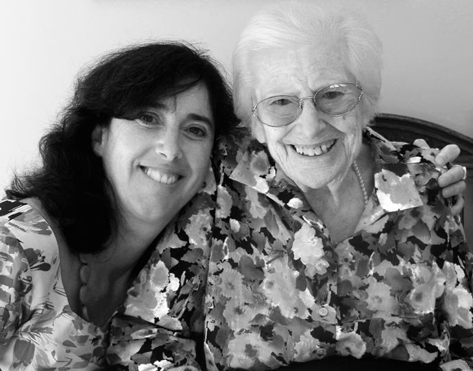 "Dr Sarah Russel with her mum, Joan. Sarah wants to see a new aged care act that's written ""with a human rights perspective""."