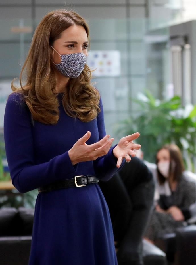 Kate paid a visit to a London baby charity on Wednesday.